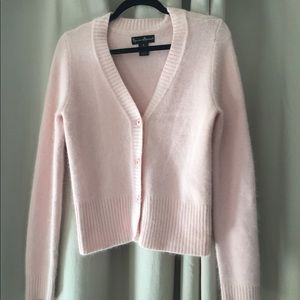 Soft Pink Button-Up Cardigan